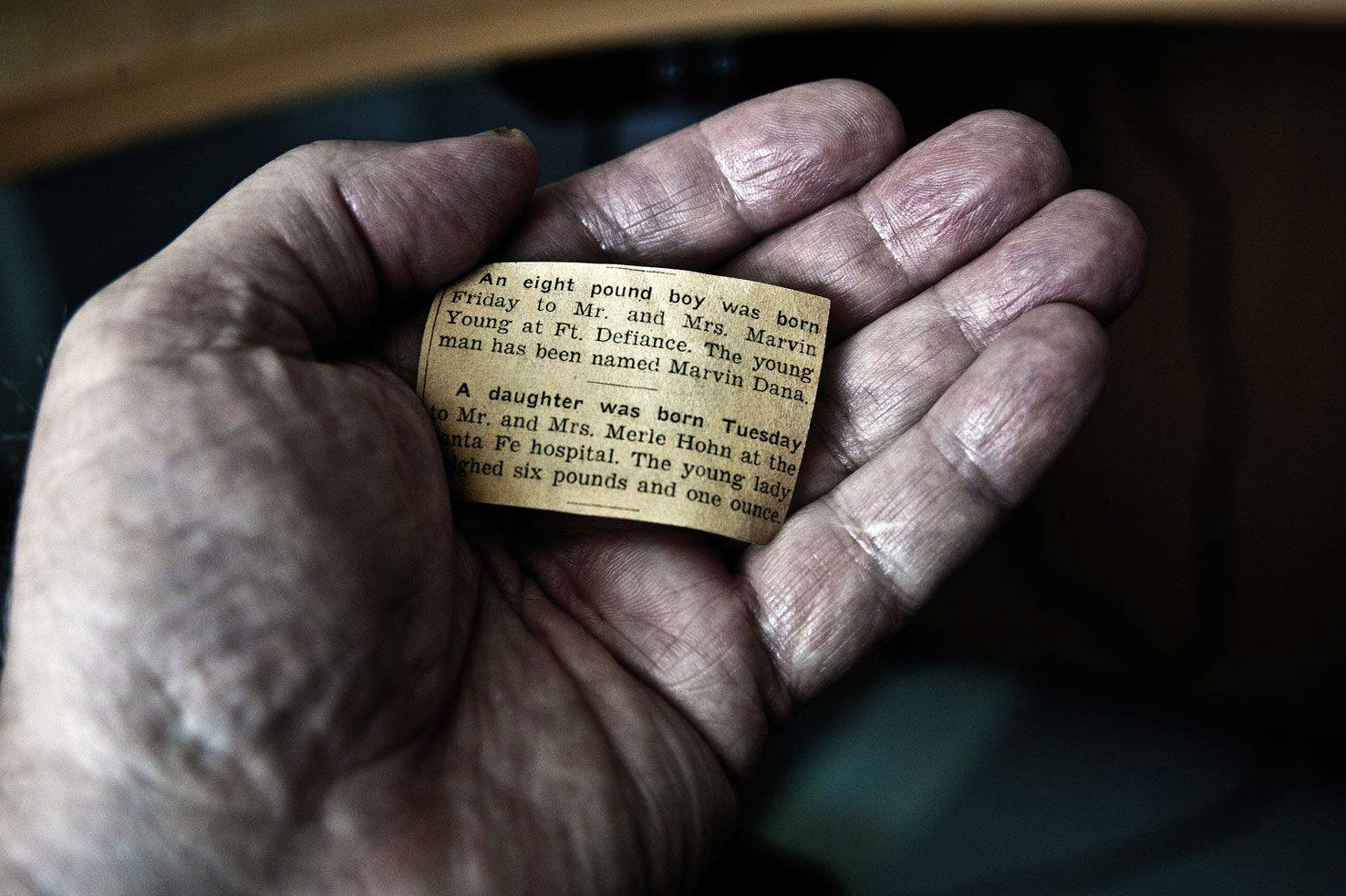 «Dan's Hand» Photo: Dan Young